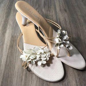 Sam & Libby floral heeled sandles